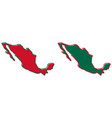 simplified map of mexico outline fill and stroke vector image