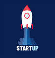 startup - flat design rocket launch and smoke vector image vector image