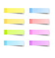 sticky reminder notes vector image vector image