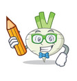 student turnip character cartoon style vector image vector image