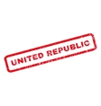United Republic Rubber Stamp vector image vector image