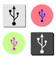 usb icon flat icon vector image vector image