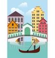 Venecia city icon Italy culture design vector image vector image