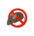 Warning sign with mouse icon isometric 3d style vector image vector image