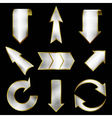 arrows set in metallic style vector image