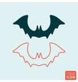 Bat halloween icon vector image