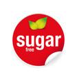 sugar free label tag sticker vector image