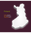 3d map of Finland vector image