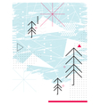 Abstract chirstmas card Geometric collage vector image vector image