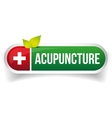 Acupuncture logo vector image vector image
