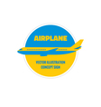 Airplane - logo concept vector image vector image
