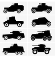Armored cars vector image vector image