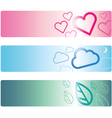 Banner template design with icon style vector image vector image