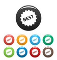 best sign icons set vector image