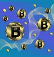 bitcoin sign icon for internet money 6 vector image