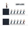 boss vs leader concept in flat