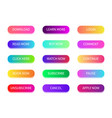 button with web action gradient bright buttons vector image