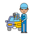 car painting key automotive service vector image