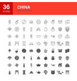 china line web glyph icons vector image vector image