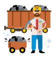 coal industry of ukraine flat style vector image
