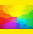 colorful rainbow triangular background vector image