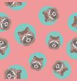 cute raccoon seamless pattern vector image vector image