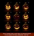 Dark Jack O Lantern Cartoon 9 Mean n Naughty vector image vector image