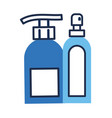 disinfectant plastic bottle product with push vector image vector image