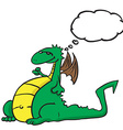 dragon with thought bubble vector image vector image