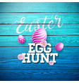easter egg hunt with flower and vector image vector image