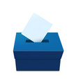 elections vote box template with voting paper vector image vector image