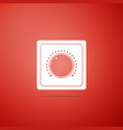 electric light switch icon on red background vector image