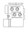 electric sewing machine overlock sewing and vector image