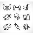 epidemic instructions icons set vector image