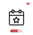 event icon vector image vector image