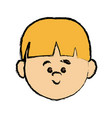 face cute little boy kid avatar person vector image vector image