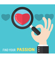 Find your passion background vector image vector image