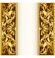 frame background with gold vegetable pattern vector image vector image