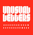 futurism letters set bauhaus font unusual high vector image vector image