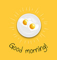 good morning fried eggs vector image vector image