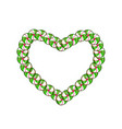 green and white heart candy frame with space for vector image