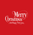 happy christmas lettering calligraphy text art vector image vector image