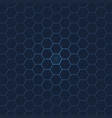 hexagon texture background vector image vector image