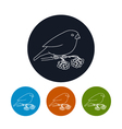 Icon of a Bullfinch vector image vector image