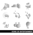 Icon Set entertainment 3D vector image vector image