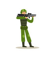 infantry troops soldier character in camouflage vector image vector image