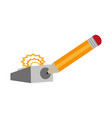 isolated pencil and eraser design vector image
