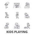 kids playing children playing kids playing vector image vector image