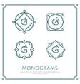Letter G Monogram vector image vector image