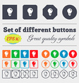 light bulb idea icon sign Big set of colorful vector image